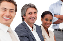 Portrait of smiling business people in a meeting Royalty Free Stock Photography