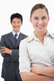 Portrait of smiling business people posing Stock Images