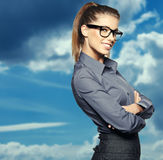 Portrait of smiling business woman, Royalty Free Stock Photos
