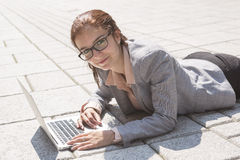 Portrait of a smiling business woman Stock Images