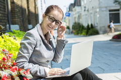 Portrait of a smiling business woman Stock Image