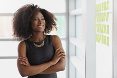 Portrait of a smiling business woman with an afro Stock Photos