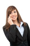 Portrait of smiling business woman on cell phone. Stock Photography