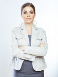 Portrait of smiling business woman, isolated on white background Stock Photos