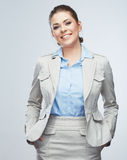 Portrait of smiling business woman, isolated Stock Photography