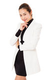 Portrait Of Smiling Business Woman Is Standing. Royalty Free Stock Images