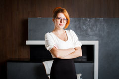 Portrait of a smiling business woman Royalty Free Stock Photography