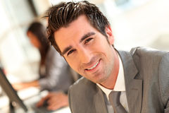 Portrait of smiling businessman Stock Photo