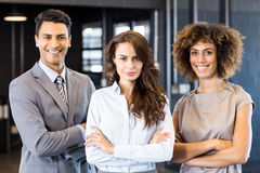 Portrait of smiling businessman and businesswoman Royalty Free Stock Images