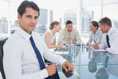 Portrait of a smiling businessman Royalty Free Stock Image