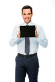 Portrait of a smiling businessman with digital tablet Royalty Free Stock Photo