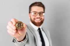 Portrait of a smiling businessman dressed in suit Stock Photos