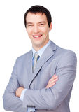 Portrait of a smiling businessman with folded arms Royalty Free Stock Photo