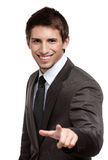 Portrait of smiling businessman pointing at you Royalty Free Stock Photo