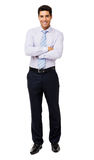 Portrait Of Smiling Businessman Standing Arms Crossed Stock Image