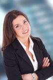 Portrait of a smiling businesswoman stock images