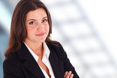 Portrait of a smiling businesswoman Stock Image