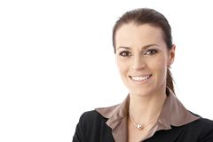 Portrait of smiling businesswoman Stock Images