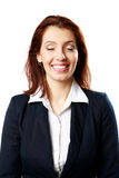 Portrait of a smiling businesswoman with closed eyes Stock Photo