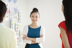 Portrait of Smiling Businesswoman in Creative Office Royalty Free Stock Images