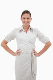 Portrait of a smiling businesswoman posing Royalty Free Stock Photos