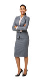Portrait Of Smiling Businesswoman Standing Arms Crossed Royalty Free Stock Images
