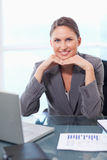 Portrait of a smiling businesswoman working Royalty Free Stock Image