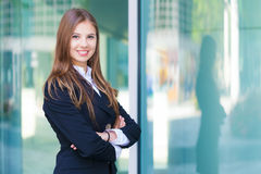 Portrait of a smiling businesswoman Royalty Free Stock Photos