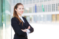 Portrait of a smiling businesswoman Stock Photo