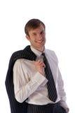 Portrait smiling busnessman Stock Photos