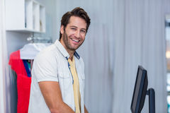 Portrait of smiling cashier Royalty Free Stock Photo