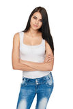 Portrait of smiling casual teen girl Royalty Free Stock Images