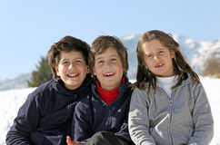 Portrait of smiling Caucasian three brothers Stock Photography