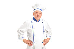 Portrait of a smiling chef Stock Images