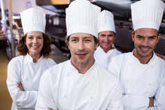 Portrait of smiling chef Stock Photo