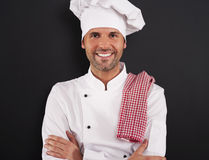 Portrait of smiling chef stock image