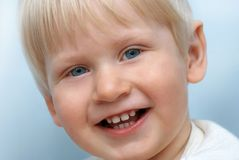Portrait of smiling child. Portrait of smiling little child royalty free stock photos