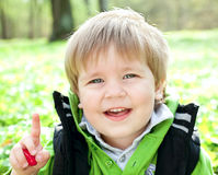 Portrait of a smiling child Royalty Free Stock Photos