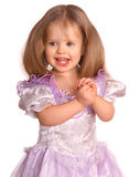Portrait of smiling child in dress. Royalty Free Stock Photography