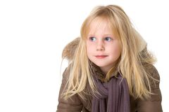 Portrait of a smiling child in a jacket Stock Photo