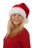 Portrait of a smiling Christmas girl Royalty Free Stock Images