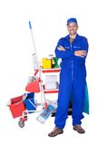Portrait Of Smiling Cleaner Royalty Free Stock Images