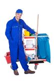 Portrait of smiling cleaner Stock Photos