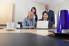 Portrait of smiling colleagues Royalty Free Stock Photos