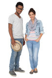 Portrait of a smiling cool young couple Royalty Free Stock Photo