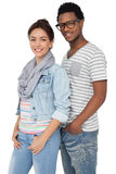 Portrait of a smiling cool young couple Royalty Free Stock Image