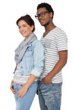 Portrait of a smiling cool young couple Royalty Free Stock Photos