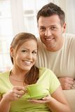 Portrait of smiling couple Stock Image
