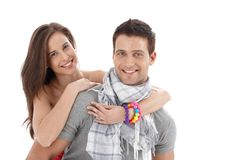 Portrait of smiling couple Stock Photography