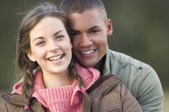 Portrait of smiling couple. Portrait of a smiling couple royalty free stock photo